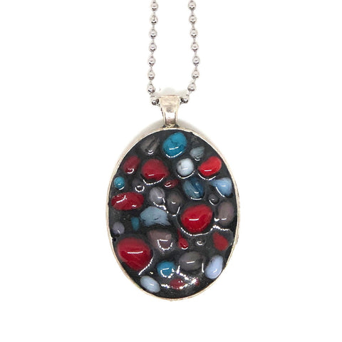 Oversized Pebble Oval Pendant