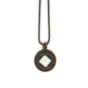 Mini White Diamond Bead Pendant