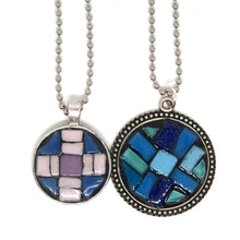 Oversized Patchwork Blues Pendant