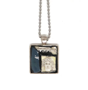 Greek Goddess Square Pendant