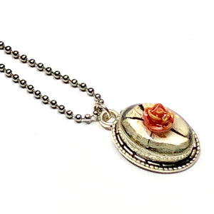 Mini Red Rose China Pendant