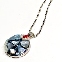 Rose with Pearl Necklace Pendant