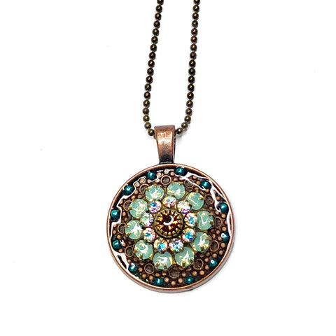 Glass Blue Flower Pendant