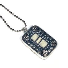 Silver Geometric Rectangle Pendant