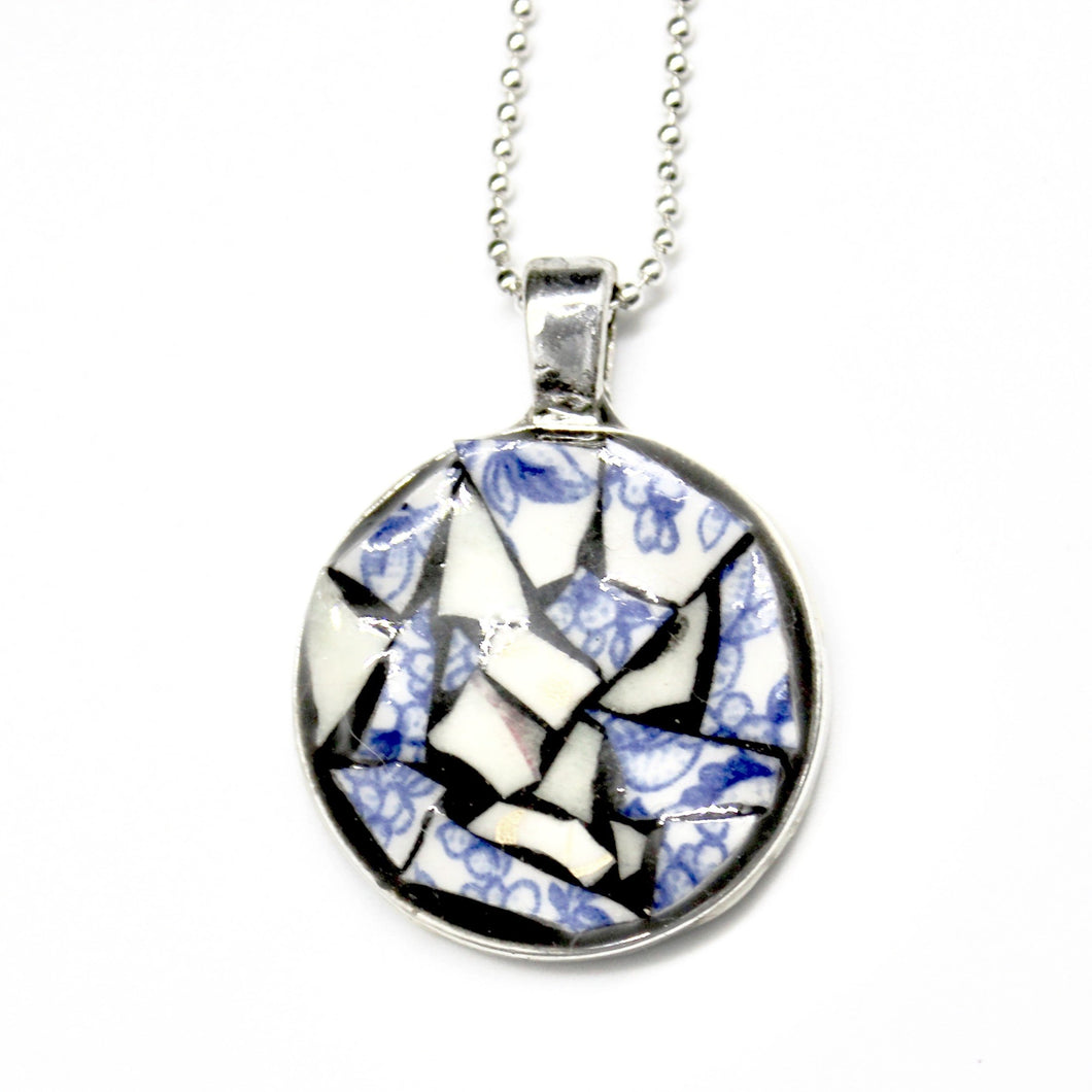 Mixed Green & Blue China Pendant