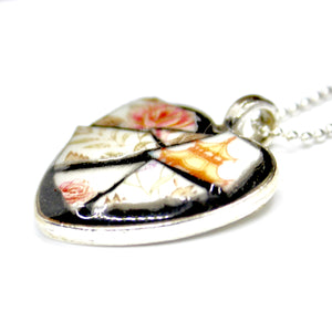 Pagoda China Heart Pendant