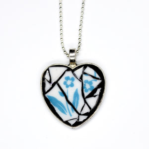 Cornflower Blue Heart Pendant