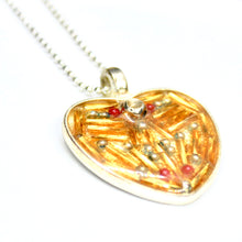 Gold Beaded Heart Pendant