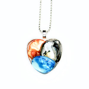Blue & Orange Chunky Heart