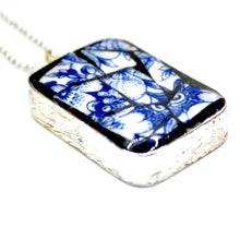 Blue & White China Rectangle Pendant