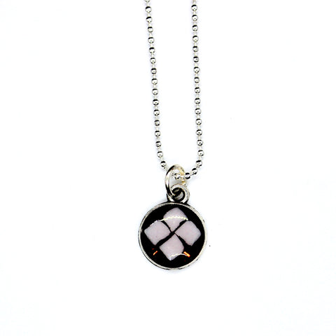 Mini Pink Diamond Tile Pendant