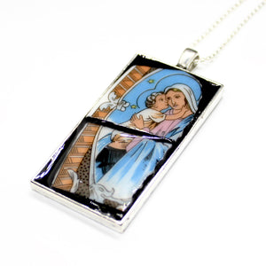 Blue Mary Pendant