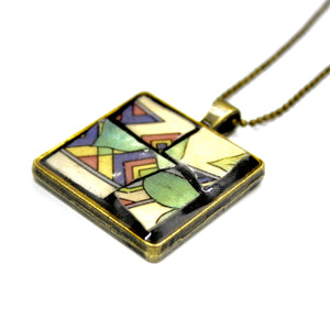 Art Deco Square Pendant