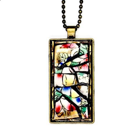 Fruit China with Gold Bead Accent Pendant