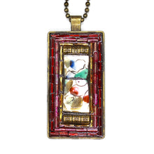 Fruit China & Gold Accent Pendant