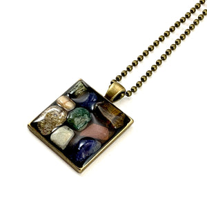 Large Colorful Pebbles Pendant