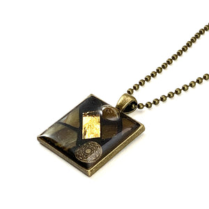 Gold Metal Pendant - Element Series