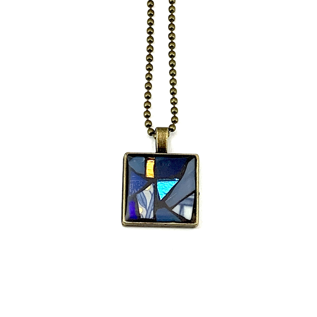 Small Blue/Gold Pendant