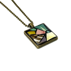 Spring Flower Stained Glass Pendant