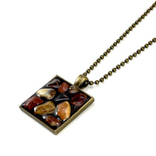 Large Deep Red Pebbles Pendant