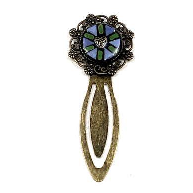 Blue and Green Antique Gold Bookmark