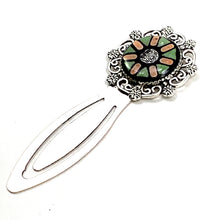 Peach and Green Silver Bookmark