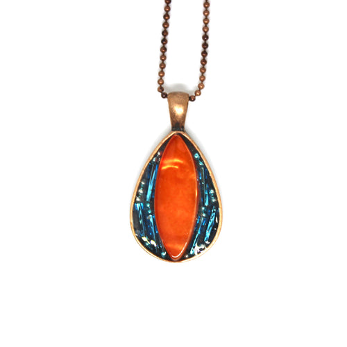 Tangerine and Turquoise Pendant