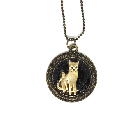 Golden Kitty Pendant