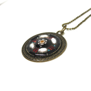 Pearl and Flower Pendant