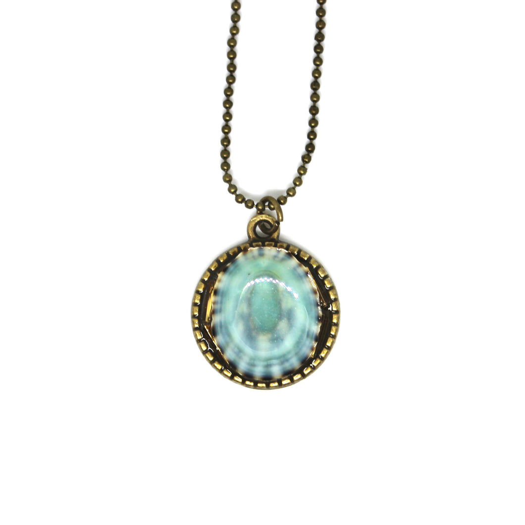 Robin Egg Blue Shell Pendant