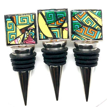 Sunny Yellow Square Bottle Stoppers (Set of 3)