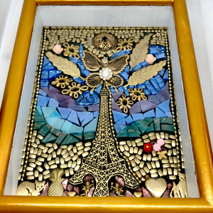 Golden Paris Mosaic Shadowbox