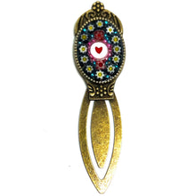 Black Millefiori & Heart Bead Bookmark