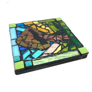 Whimsical Nature Art Deco Coasters - Set of 3