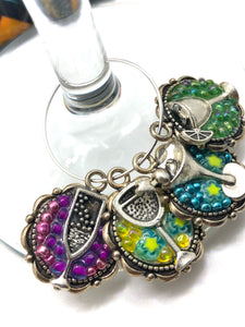 Colorful Cocktails Wine Charms - Set of 4
