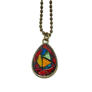 Stained Glass Teardrop Pendant