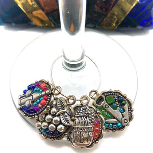 Colorful Wine Charms - Set of 4