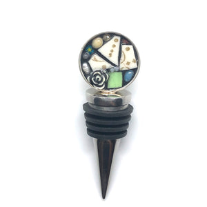 Rose Assemblage Round Bottle Stopper