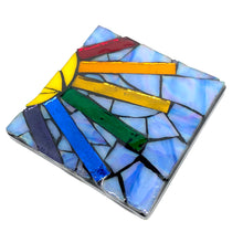 Rainbow Sunshine Mosaic Coaster