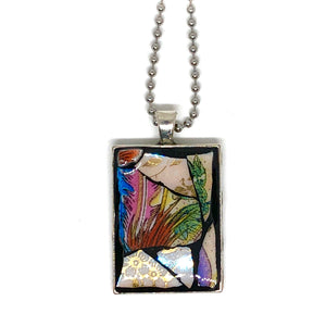 Ceramic Abstract Rectangle Pendant