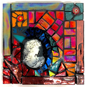 Colorful Cameo Mosaic Coaster