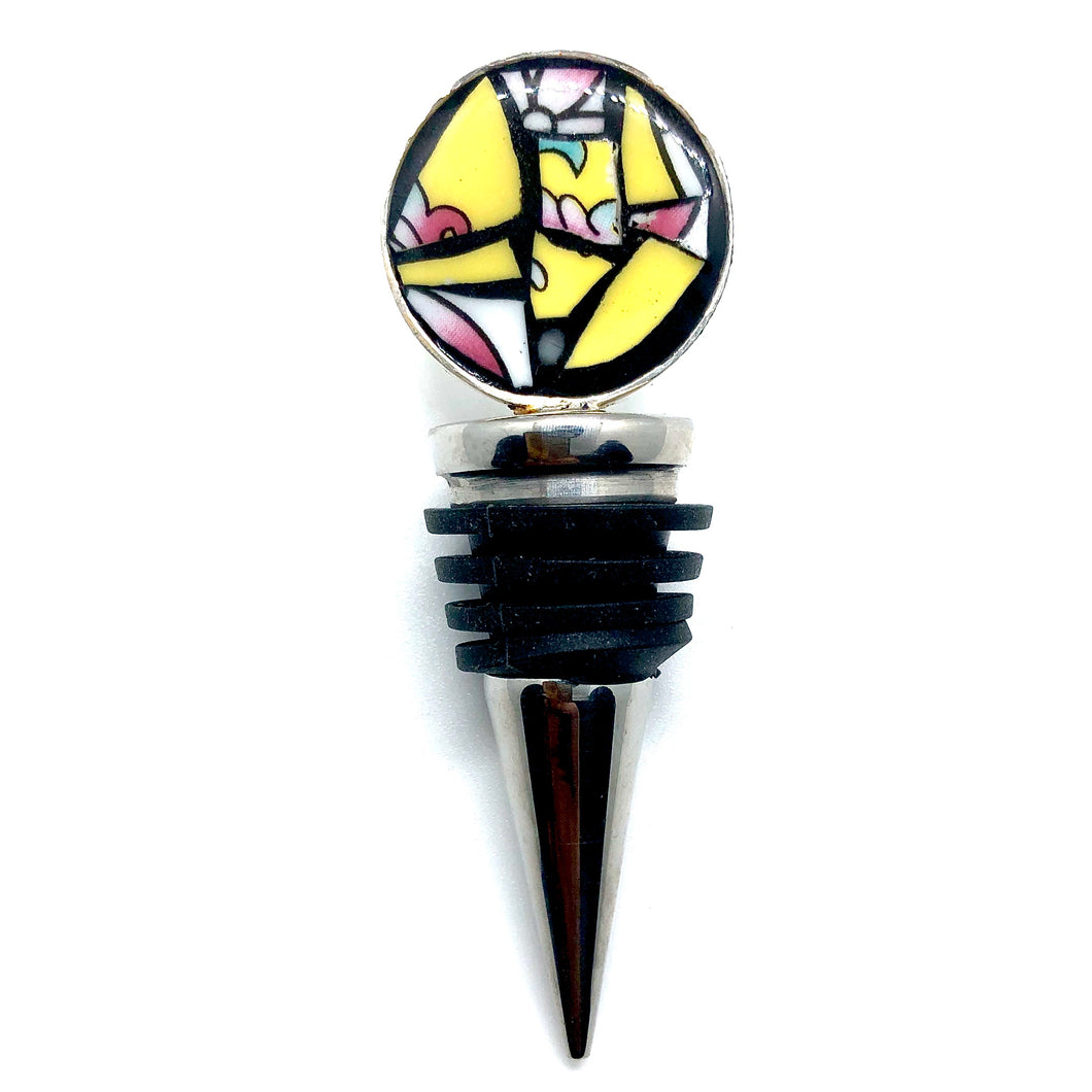 Sunny Yellow Round Bottle Stopper