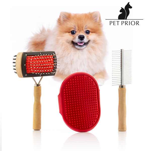 Collection Pet Prior Set of Dog Brushes (3 Pieces)
