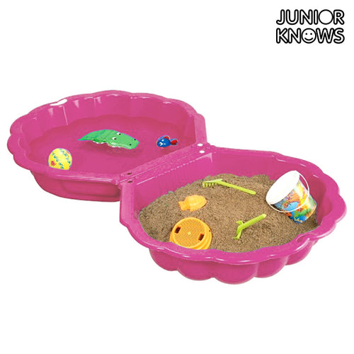 Junior Knows Pink Shell Children's Sandbox