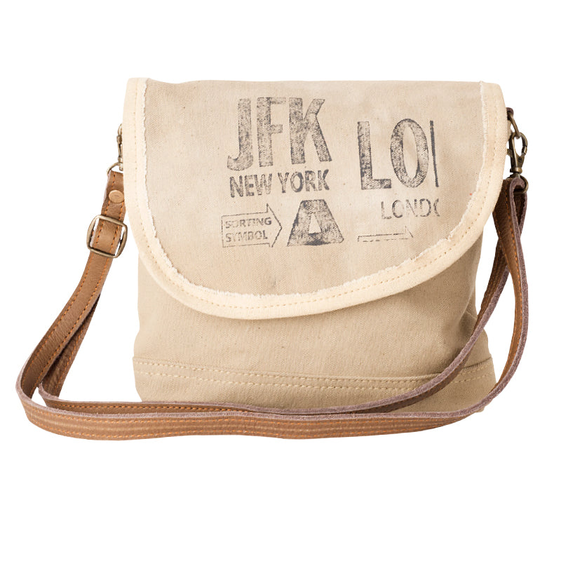 Tent Crossbody Bag w/JFK print