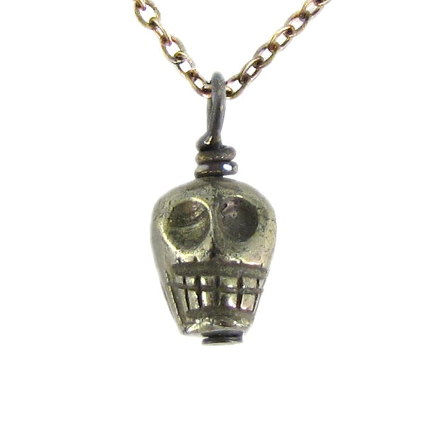 Pyrite Skull Necklace