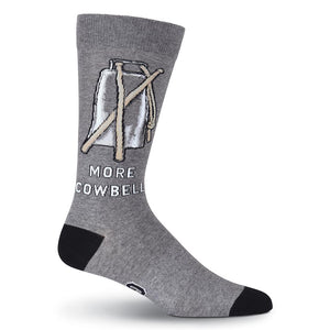 Socks-Men's More Cow Bell