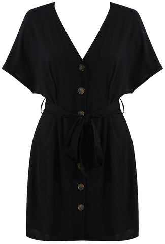 Button Tie Up Dress