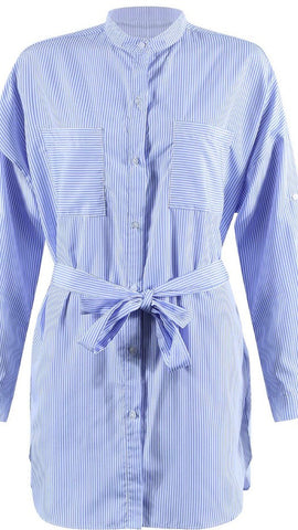 Stripes Belted Shirt Dress Sale
