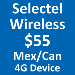 Selectel Wireless 4G $55 Mex/Can Plan
